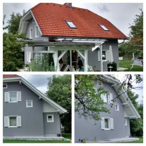 Gebäude mit Pelletszentralheizung